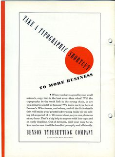Intertype's Rex and Bodoni typefaces are featured in this 1920s type specimen. #type #specimen #bodoni #typography