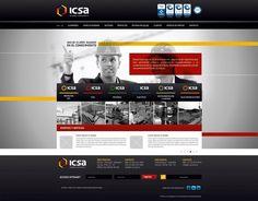 Portal Web Corporativo / Ingeniería y Consultoria S.A. #red #design #black #webdesign #logo #web