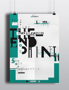 The End Of Print by David Carson Poster on Behance #serif #print #sans #end #poster #type #typography