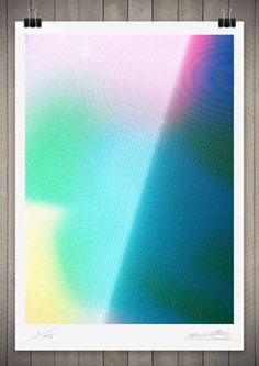 Image of Studies in Broadcast Colour 5 111 x 76cm $390 #pattern