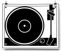 Beleonia #illustration #gramophone #poster