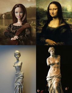 Jocelyne Grivaud is trying to change the way we see Barbie by incorporating her into various famous works of art #barbie