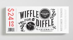 Retail Ticket — Designed at Leo Burnett DOD #wiffle #ball #business #card #stationery