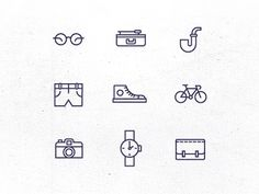 Hipster Icons #icon #pictogram #symbol