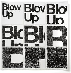 Helvetica / Blow Up Experimental Jetset #experimental #poster #jetset #helvetica #typography