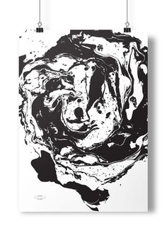 Poster Project #ooze #white #spiral #black #monochrome #liquid #marble