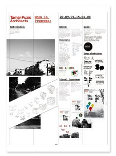 Tamar Puzis Architects on the Behance Network #design #graphic #poster #typography