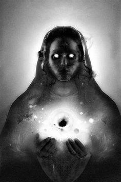 MIRROR #universe #glowing #space #murto #portrait #perttu #art