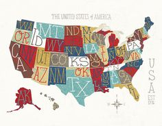 MichaelMullan_05 #us #america #map #illustration #type #typography