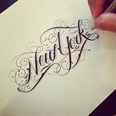 Hand drawn typography by Raul Alejandro #new york #lettering #raul alejandro