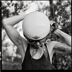 this isn't happiness™ photo caption contains external link #tattoo #helmet #woman #ride