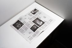 GUNMAD #newspaper #black #white #editorial #typography #grid #layout