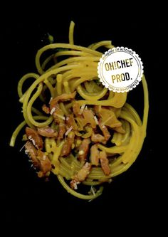 O H ! C H E F demone #ohchef #lettering #pasta #design #graphic #demone #chef #poster #carbonara #scan