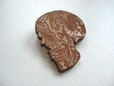 Creative Review Feliz Dia de los Muertos #skull #lazer #engraved #brooch