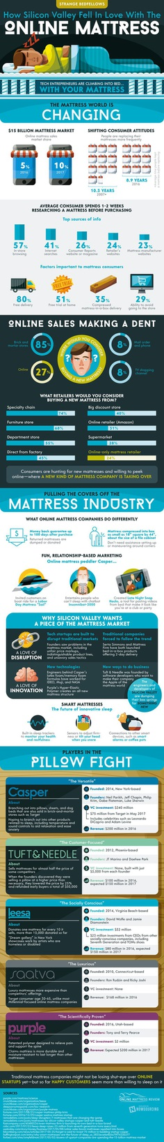 Strange Bedfellows: How Silicon Valley Fell In Love With The Online Mattress - Online Mattress Review