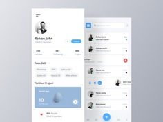 Profile And Chat Screen UI