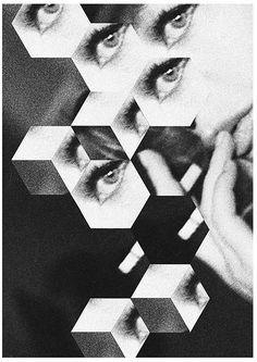 hexagonal kaleidoscope #kaleidoscope #white #black #eye #and