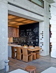 Xote #interior #concrete #caf #storage #blackboard #wine #restaurant