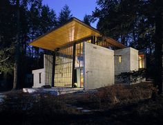 Chicken Point Cabin #steel #modern #architects #wood #architecture #olson #kundig