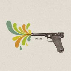 Create - Designers.MX #create #gun #color #ogden #illustration #john
