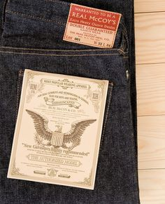 Love & Utility » The Real McCoys Jeans #design #graphic #label #tag #jeans
