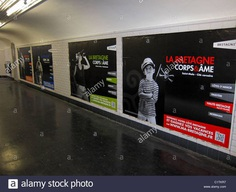 Paris, France, French Travel Advertising Posters in Hallway of Metro Stock Photo, Royalty Free Image: 35577787 - Alamy