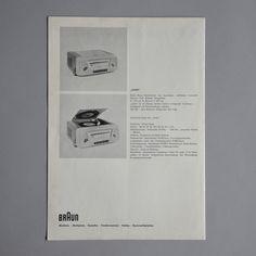 Braun new range brochure Otl Aicher 1955 via www.dasprogramm.org