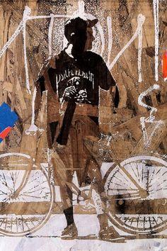 eyeone | seeking heaven #eyeone #white #graffiti #black #seeking #bicycles #photography #art #and #mixed #cycling #media #heaven