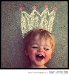 Chalk crown #crown #child #chalk
