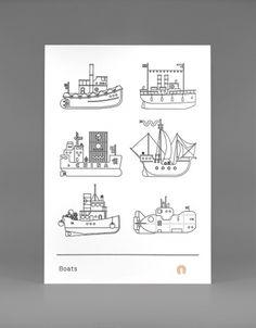 Boats Print #print #graphic design #illustration #boats
