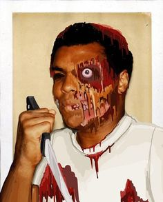 Zombie Ali | Flickr - Photo Sharing! #muhammad #wacom #design #paint #illustration #ali