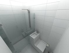 Minimalist interior in white bathroom #interior #abstract #white #modern #design #home #island #kitchen #paintings #minimalist