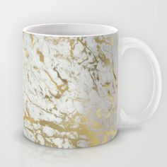 mug, cup, gold, marble