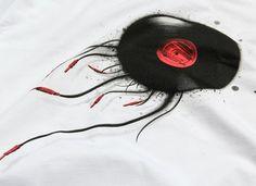 KAFT Design - AHTAPOTTişört #plug #zappa #octopus #record #music