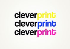 Logo #yellow #design #graphic #magenta #cleverprint #cmyk #logo #ciano