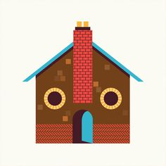 JasperGold_FacesinPlaces_01 #illustration #house #happy