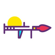 See more icon inspiration related to weapon, bazooka, grenades, launchers, miscellaneous, launcher, army, arms and weapons on Flaticon.