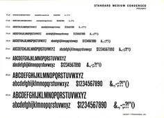 This is Standard/Akzidenz Grotesk Medium Condensed. #type #specimens #typography