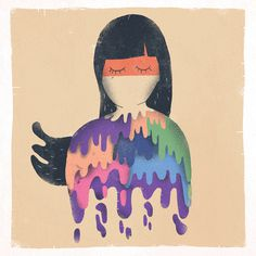 #illustration #girl #colourful