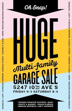 I'm Having a Garage Sale with Screen Printed Posters! | Allan Peters' Blog #graphic design #typography #vintage