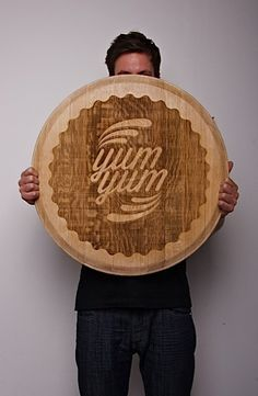 Wood Typography Engraving on the Behance Network #interior #cheese #off #quote #design #wood #industrial #custom #type #typography