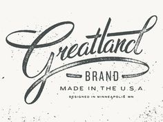 Greatland Brand #atomic #logos