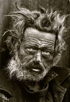 Irish Vagrant, east end London, by Don McCullin 1968 #don #tramp #sepia #london #desperate #vagrant #photography #vintage #mccullin #homeless