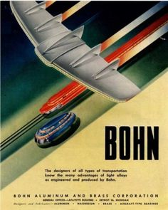 Vision of the future - Wall to Watch #illustration #vintage #poster #futuristic #transport #50s #bohn
