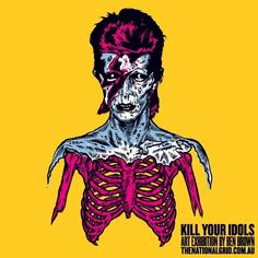 TNGBENBROWN497_2 | Flickr - Photo Sharing! #skeleton #idols #illustration #brown #kill #your #david #ben #bowie