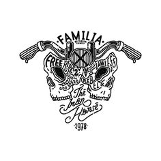 Artwork Vol.03 on Behance, Betrayer Family #hand drawn #typography #illustration #skull