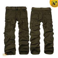 Mens Cargo Pants Trousers Olive CW100008