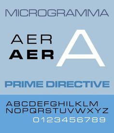Microgramma (typeface) - Wikipedia, the free encyclopedia #type