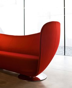 Upholstered Leather Sofa by Peter Harvey