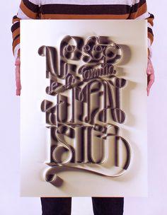 | No sóc de la família que penses | on Behance #calligraphy #lettering #caligrafãa #david #rico #tipografãa #gold #poster #champagne #typography